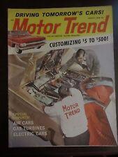 Motor Trend Magazine August 1959 Customizing $5 to $500 UU DD PP GG