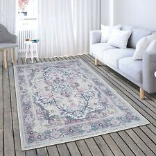 New Soft Ivory Pink Oriental Traditional Living Room Bedroom Area Rug Sale