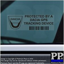 5 x Dacia GPS Tracking Device Security BLACK Stickers,Dokker-Car Alarm Tracker