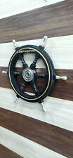 "Nautical Decor 24"" Wooden Pirate's Ship Wheel wall Decor"