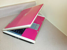 "SSD DRIVE DUAL CORE 64X2 WIN7 HOT PINK&WHITE 15.4""WIDE WEBCAM 1.8GHz,2GB,60GB"