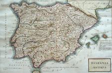 ESPAÑA SPANIEN BALEAREN MALLORCA IBIZA PORTUGAL KUPFERSTICH KARTE CELLARIUS 1809