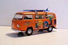 1972 VW Kombi Surfing Van with Surfboard Custom Graphics 1:43 Diecast