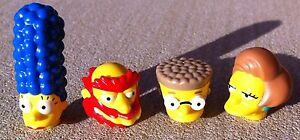 4 ORIGINAL LEGO - Minifigure HEADS - The Simpsons Series 2 CHARACTER HEAD