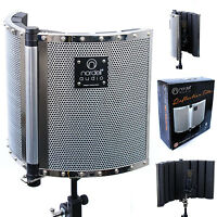Nordell Portable Recording Vocal Booth: Microphone Reflection Filter / Screen