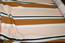 BULK BUY! 4M 'VINTAGE STRIPE' PONTE / SCUBA KNIT PRINT DRESS FABRC