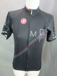 CASTELLI SIZE S WOMENS BLACK FULL ZIP W/POCKETS SHORT SLEEVE CYCLING JACKET T412