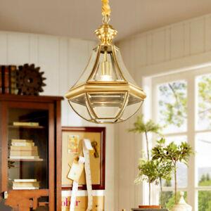 Glass Pendant Light Brass Lamp Kitchen Pendant Lighting Modern Ceiling Lights