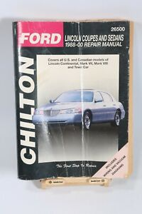 Service Repair Manuals For Lincoln Continental For Sale Ebay