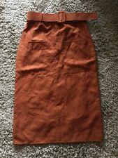 Primarl Brown Tan Cowboy Pencil Skirt Size 10 BNWT