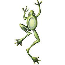 Home & Garden Decor Metal Wall Art Wall Hanging Green Frog Climbing In-Outdoor