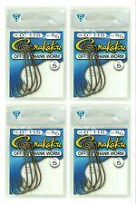 (4) Gamakatsu Packs 5/0 Offset Shank Worm Fish Hooks 07115