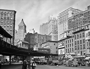 "1941 Lower Manhattan New York City NY Vintage Old Photo 8.5"" x 11"" Reprint"