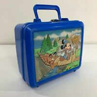 Mickey Mouse Pluto Vintage 80s Disney Swinging Bridge Plastic School Lunchbox
