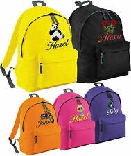 Personalised Embroidered Mini Kids Backpack Unisex School Rucksack Sports Bag