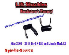 "2004 - 2013 Ford F150 F-150 Mark LT  2"" Lift Shackles SET RB Silent Bushing G"