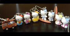 HELLO KITTY Surfing Summer Minifigure Charms (Full Set of 8) NEW **U.S.Seller**