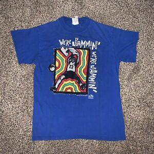Vintage Nike T Shirt Bob Marley USA Rare Jordan Center Swoosh Run 90s Gray Tag