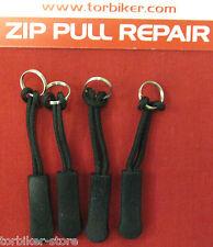 4 Cerniera Zip Tag Estrattore per Riparazione Aggiustare riparare Rukka Alpinestars KLIM AKITO Richa BMW