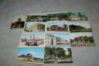 8 1910-1920's era & 3 1950's era & 1 Chrome Valparaiso Indiana Postcards