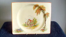 CLARICE CLIFF BIARRITZ PLATE ART DECO 9 INCH PRE OWNED