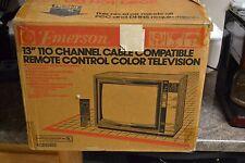 NOS (NEW) Vintage Emerson 13 inch Woodgrain color TV model ECR1350