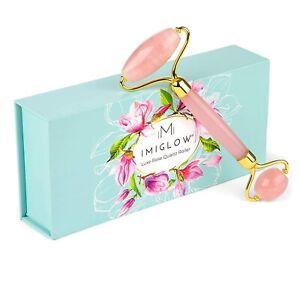 Rose Quartz Face Roller Pink Jade Roller 100% Natural Crystal Massager GIFT
