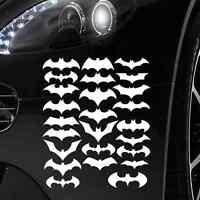 FLEDERMÄUSE AUFKLEBER  IN WEISS - 25 STÜCK - Batman