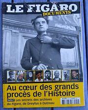 Le Figaro Documents n°22, au coeur des grands procès de l'Histoire, 112 pages,