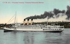 """CPR SS """"Princess Victoria"""", Victoria-Vancouver Service Ocean Liner Ship Postcard"""