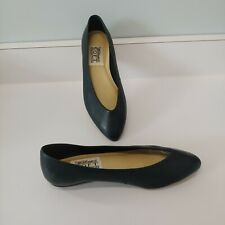 Vintage Navy Flats Shoes 8.5 W Brazilian Leather