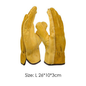 Leather Gardening Gloves Cut-resistant Thorn Proof Thick Work Gauntlets Durable