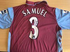 Match Worn Premier League J Lloyd Samuel Signed Aston Villa Shirt