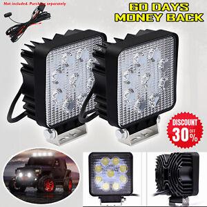 Car LED Work Flood Lights Roof Lamps 4x4 Van ATV Offroad SUV Truck 27W 12V 24V
