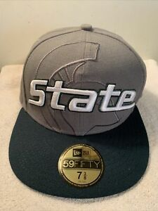 Michigan State Spartans New Era 59 Fifty Size 7 3/8 Fitted Cap New With Tag