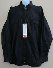 NWT Men's Massif Snake River Field Shirt Black Long Sleeve Tactical sz XXL