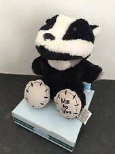 RARE ME TO YOU ANIMAL TATTY TEDDY BEAR ON BOX - DRESS UP - BADGER / SKUNK