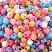 KUS:500 Mix Acrylperlen  Farbe Rund Spacer Beads Kugeln zum Basteln 6mm