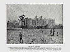 Antique Print ~ KNELLER HALL in TWICKENHAM South LONDON ~ 1895-1900