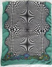 -Magnifique Echarpe type étole GIANNI VERSACE soie-laine TBEG vintage Scarf a9a5508cdde