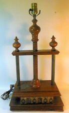 Vintage Oak Wood BOOK PRESS Table Library Lamp Napoleon Bonaparte Binding