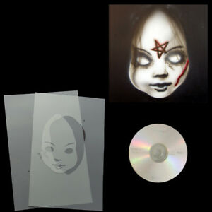 Schablonen Airbrush Step by Step Schablone Chuckys Braut # 0200 & Anleitungs CD
