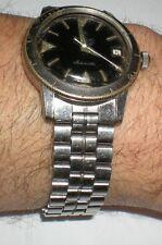 Zodiac Sea Wolf hacking military diver's men's auto watch w original bracelet !