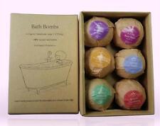 Bath Bombs Gift Set Organic 6 Assorted Spa Fizzies USA SELLER FREE SHIP
