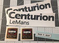 Centurion LeMans vintage bicycle decals Champion Black Set of 5