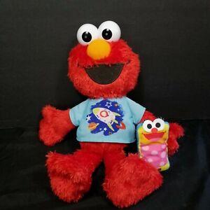 """Sesame Street Talking Singing Elmo World Plush 12"""" Spaceship Shirt Cell Phone"""