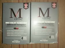 Lot of 2 M Drive Boost & Burn, 30 Capsules Increase Energy