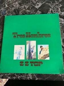 ZZ Top Tres Hombres LP 1973 Original First Press Vinyl Record G/VG