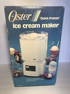 SEALED Vintage 1985 Oster Quick Freeze Ice Cream Maker 768-08 - BRAND NEW NOS