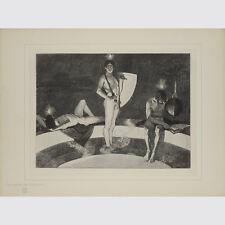 Schneider, Sascha. la sprigionano della storia. taglio di legno sul Giappone. 1895